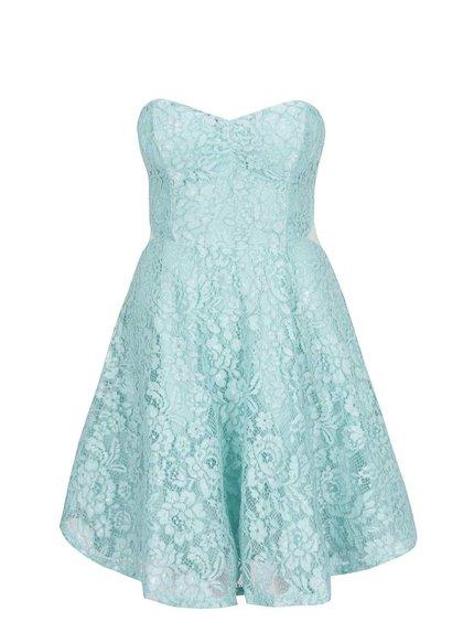 Světle modré krajkové šaty TALLY WEiJL