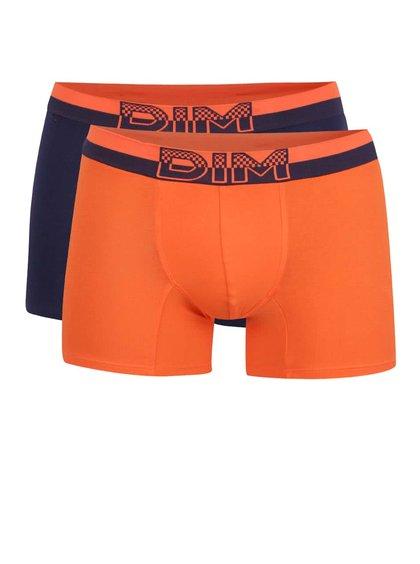 Set de 2 boxeri albastru & portocaliu DIM cu logo