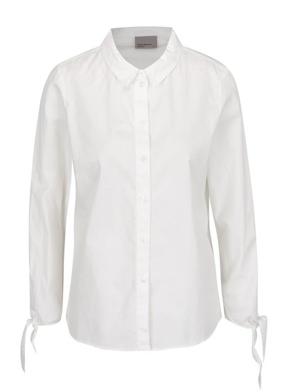 Krémová košile s uzlíky na rukávech VERO MODA New Crome