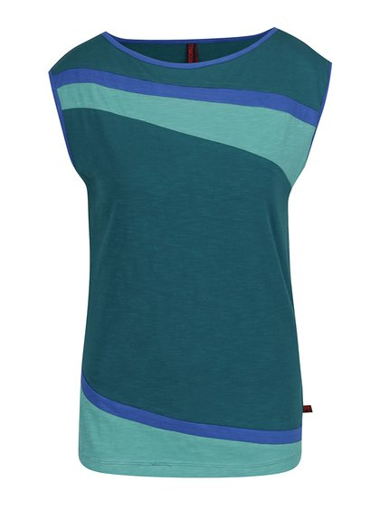Modro-zelené žíhané triko s krátkým rukávem Tranquillo Romy