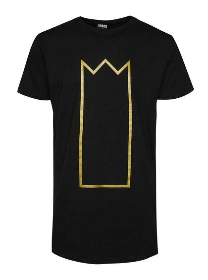 Černé unisex triko s potiskem ve zlaté barvě Primeros Kingsize