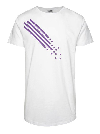 Bílé unisex triko s fialovým potiskem Primeros Passion