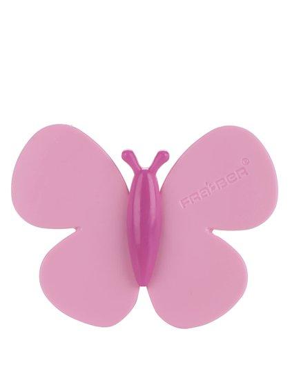 Růžový motýlek do auta Motýlek Marta Pink Roses