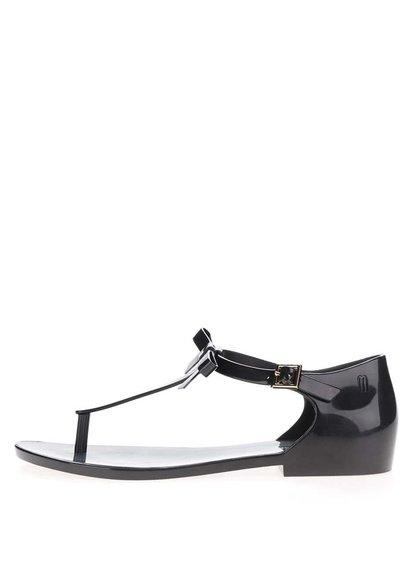 Sandale negre Melissa Honey cu fundă