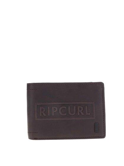 Tmavě hnědá pánská kožená peněženka s nápisem Rip Curl Free All Day