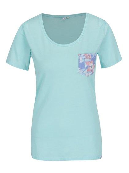 Tyrkysové dámské tričko s kapsou Rip Curl Tera