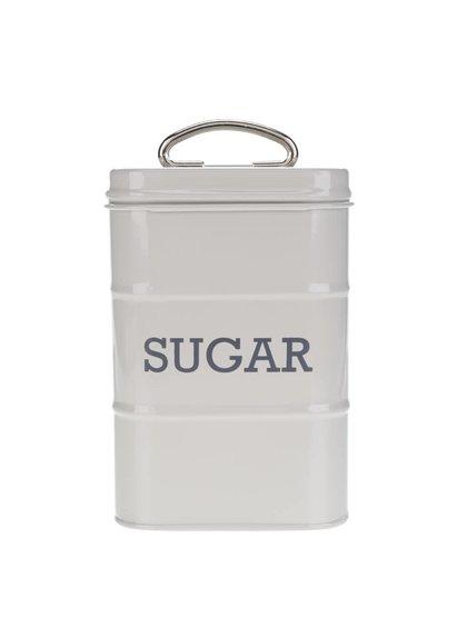 Světle šedá plechová retro dóza na cukr Kitchen Craft