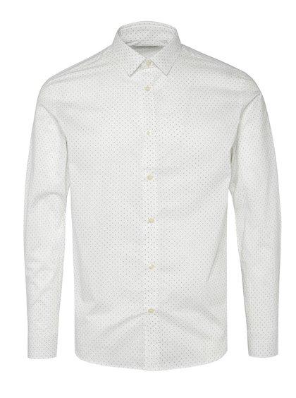 Bílá vzorovaná košile Jack & Jones Blackpool