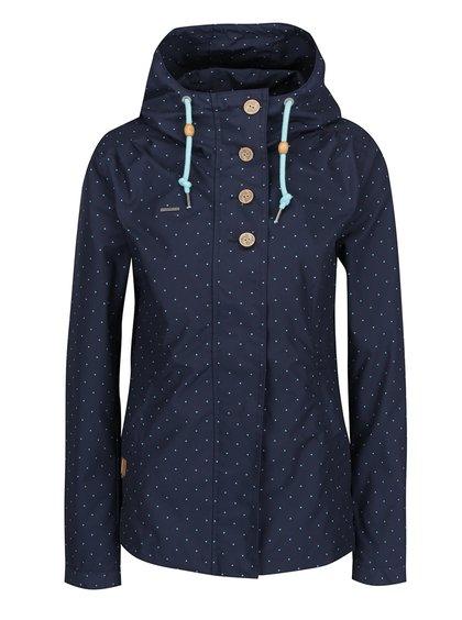Tmavě modrá dámská puntíkovaná bunda Ragwear Lynx Dots