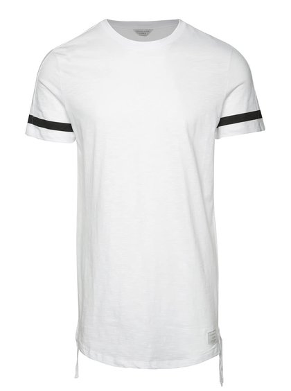 Tricou alb Jack&Jones Fring cu detalii în contrast