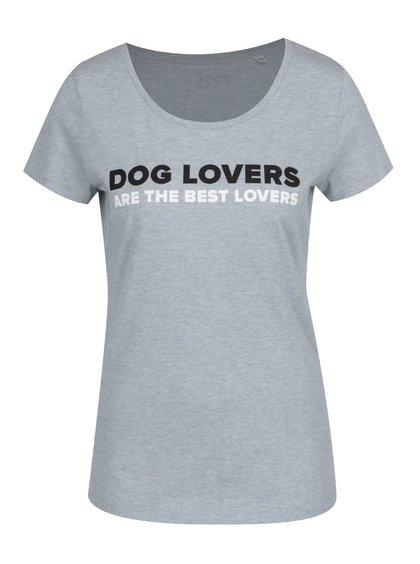 Světle modré dámské triko ZOOT Dog lovers are the best lovers