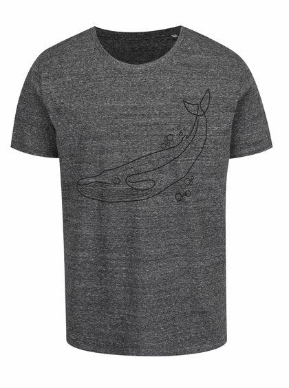 Tmavě šedé pánské triko ZOOT Originál Velryba