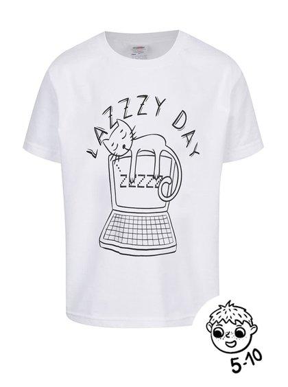 Bílé dětské triko ZOOT Kids Lazy day