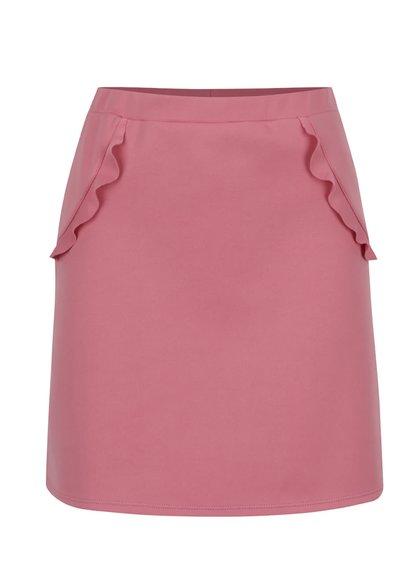 Růžová sukně s volány Miss Selfridge