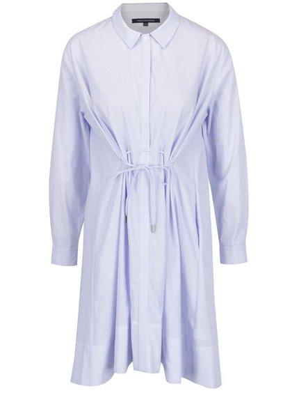 Rochie cămașă albastră French Connection Smithson cu șiret în talie