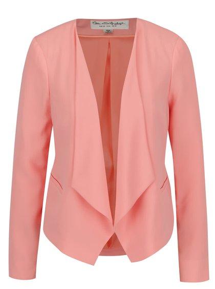 Růžové sako s cípy Miss Selfridge