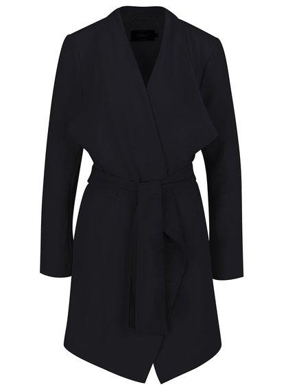 Tmavě modrý lehký kabát se zavazováním v pase ONLY Runa