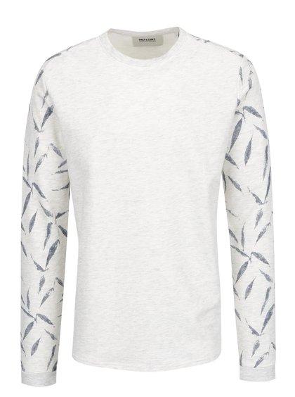 Bluză crem melanj ONLY & SONS Garrik cu model pe mâneci
