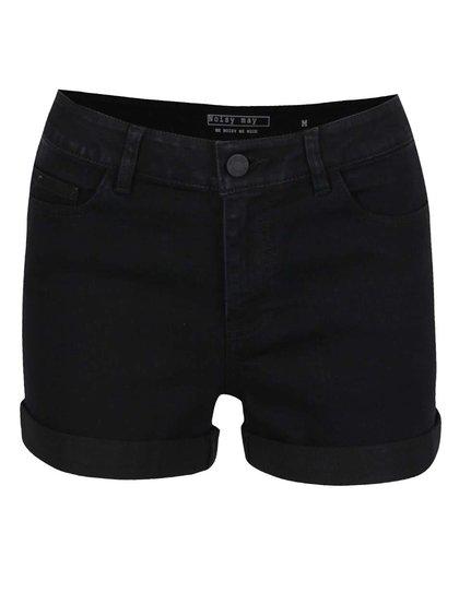 Pantaloni scurți negri Noisy May Lucy din denim