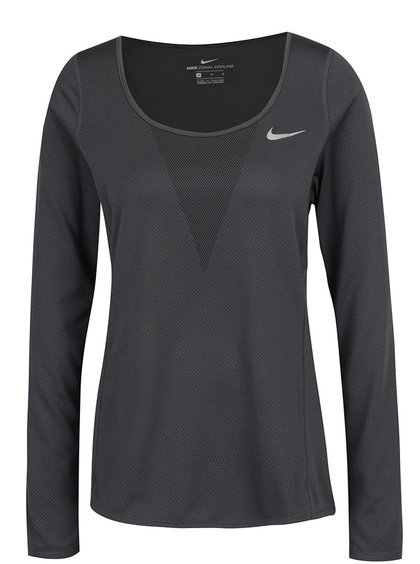 Bluză gri închis Nike Zonal Cooling Relay
