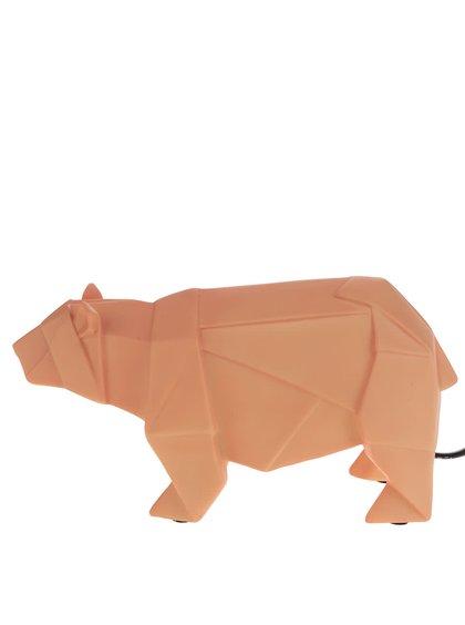 Oranžová lampa ve tvaru medvěda Disaster Bear