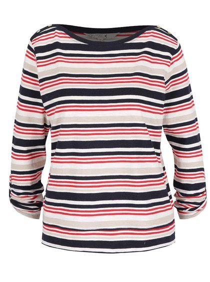 Krémovo-modré pruhované dámské tričko M&Co