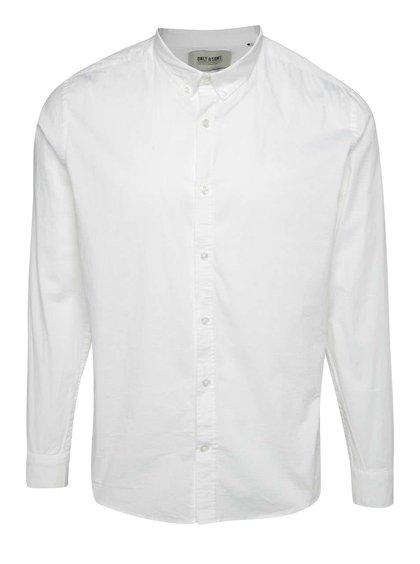 Bílá slim fit košile ONLY & SONS Albiol