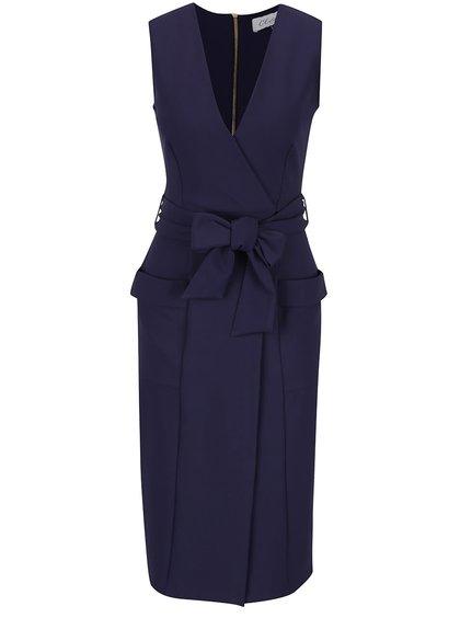 Rochie albastră Closet cu cordon în talie