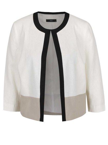 Krémové dámské lněné sako M&Co