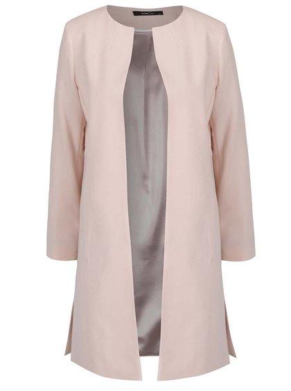 Jachetă lungă roz pal M&Co
