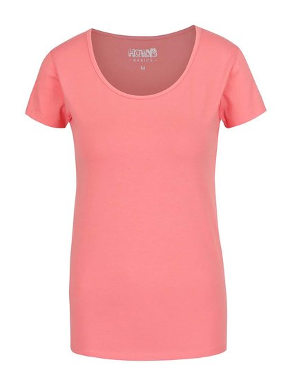 Růžové basic tričko s krátkým rukávem Haily's Mona
