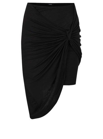 Černá asymetrická sukně s nařasením Haily's Reni