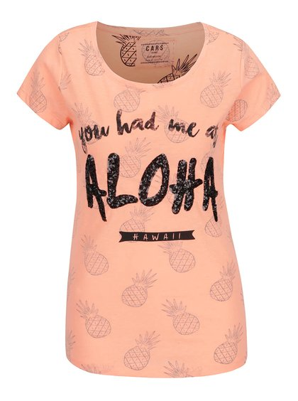 Tricou corai Cars Aloha cu model și print