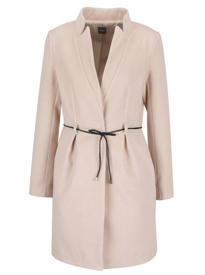 Palton roz pudră ZOOT Simple cu guler cu revere