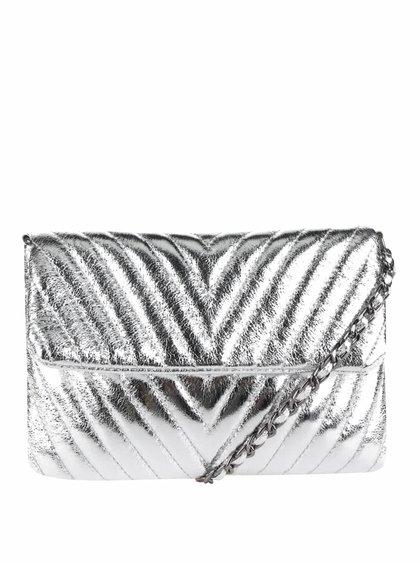Dámská malá prošívaná crossbody kabelka ve stříbrné barvě TALLY WEiJL