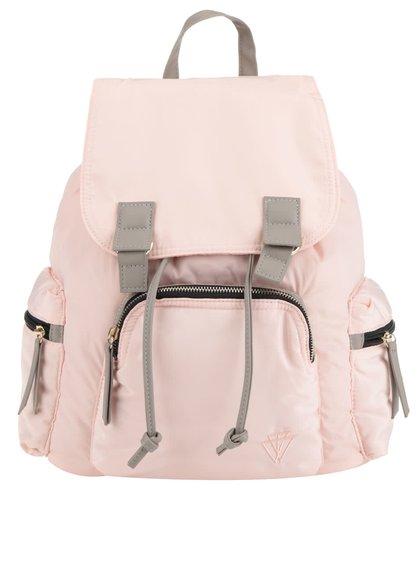 Růžový batoh s koženkovými detaily TALLY WEiJL