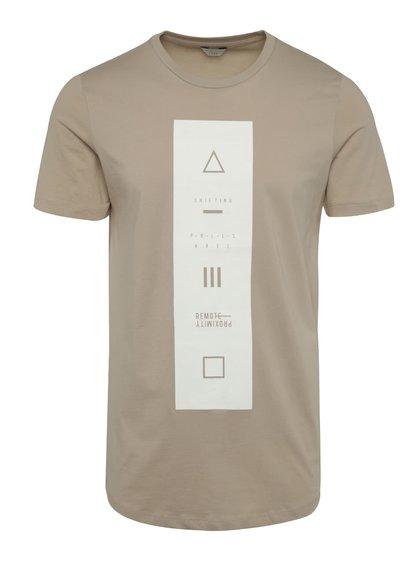 Béžové triko s potiskem Jack & Jones Follow