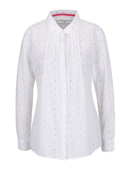 Bílá košile s jemným barevným vzorem  Brakeburn