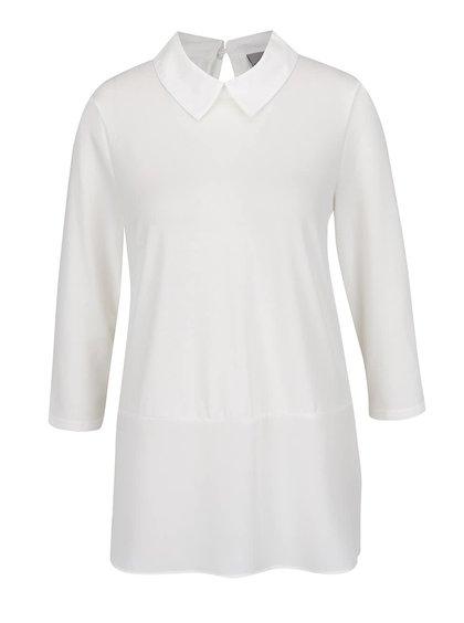 Krémový top s všitou košilí VERO MODA Kacy