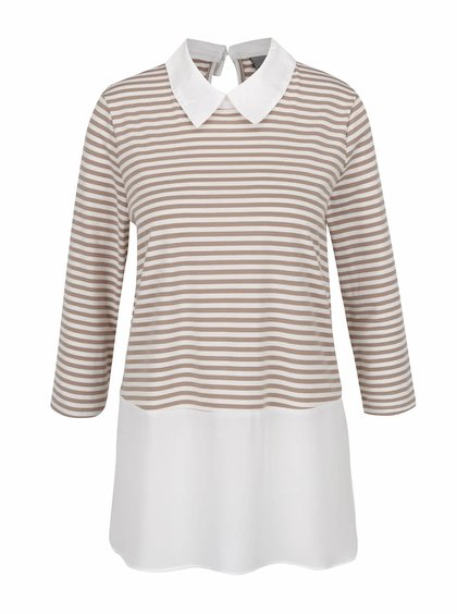 Krémovo-béžový top s všitou košilí Vero Moda Kacy