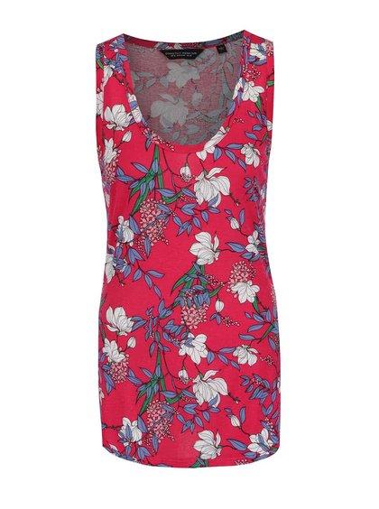 Tmavě růžové květované tílko Dorothy Perkins