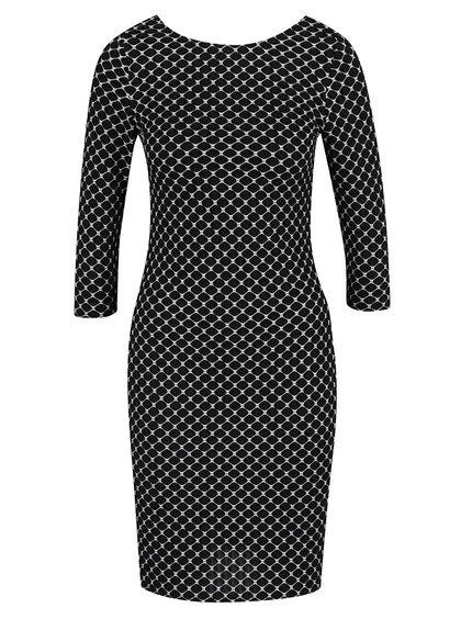 Černé vzorované pouzdrové šaty Dorothy Perkins Petite