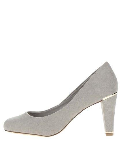 Pantofi gri Dorothy Perkins cu detalii metalice