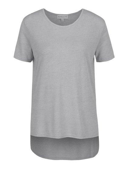 Světle šedé tričko s prodlouženým zadním dílem Apricot