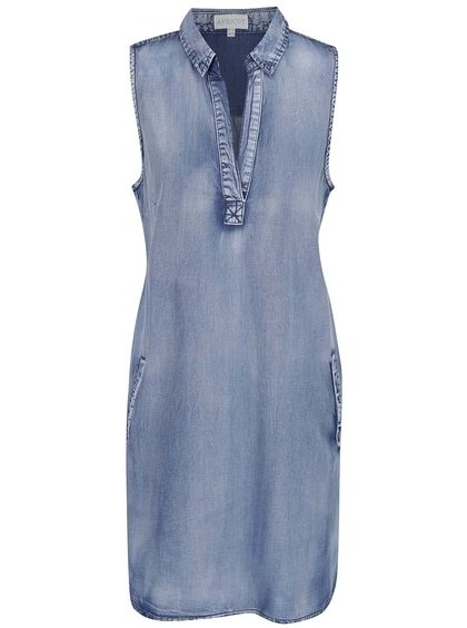 Rochie albastră Apricot din denim cu buzunare