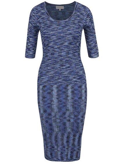 Modré žíhané svetrové šaty Apricot