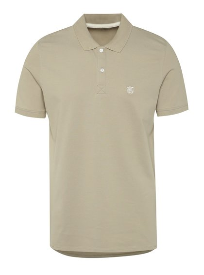 Tricou polo bej Selected Homme Haro cu logo
