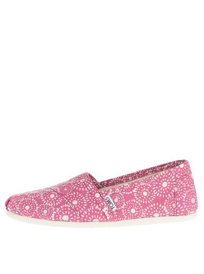 Růžové dámské vzorované loafers TOMS