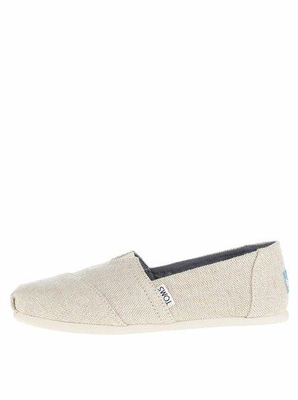 Béžové dámské třpytivé loafers TOMS