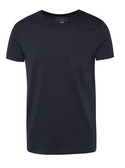 Tmavě modré triko s kapsou Jack & Jones Ari